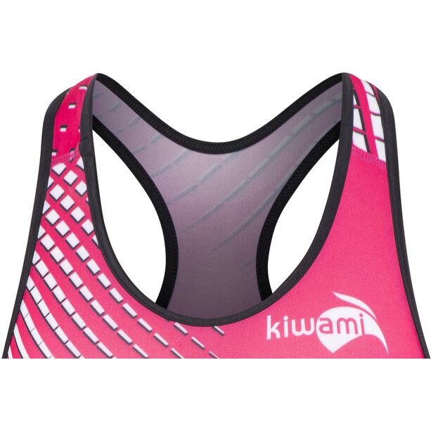 KiWAMi Prima Openback Anzug Damen black/pink