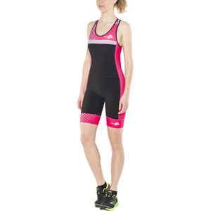KiWAMi Prima Openback Anzug Damen black/pink black/pink