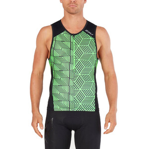 2XU Perform Tri Top Herren black/geo neo green black/geo neo green