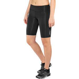 2XU Mid-Rise Compression Shortsit Naiset, black/dotted reflective logo black/dotted reflective logo
