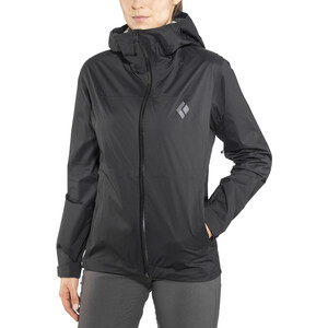 Black Diamond Stormline Stretch Rain Shell Jacke Damen black black