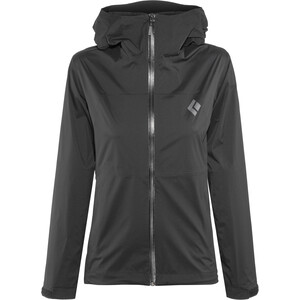 Black Diamond Stormline Stretch Regen Shell Jacke Damen black black