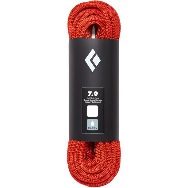 Black Diamond 7.9 Rope Dry Seil 70m orange