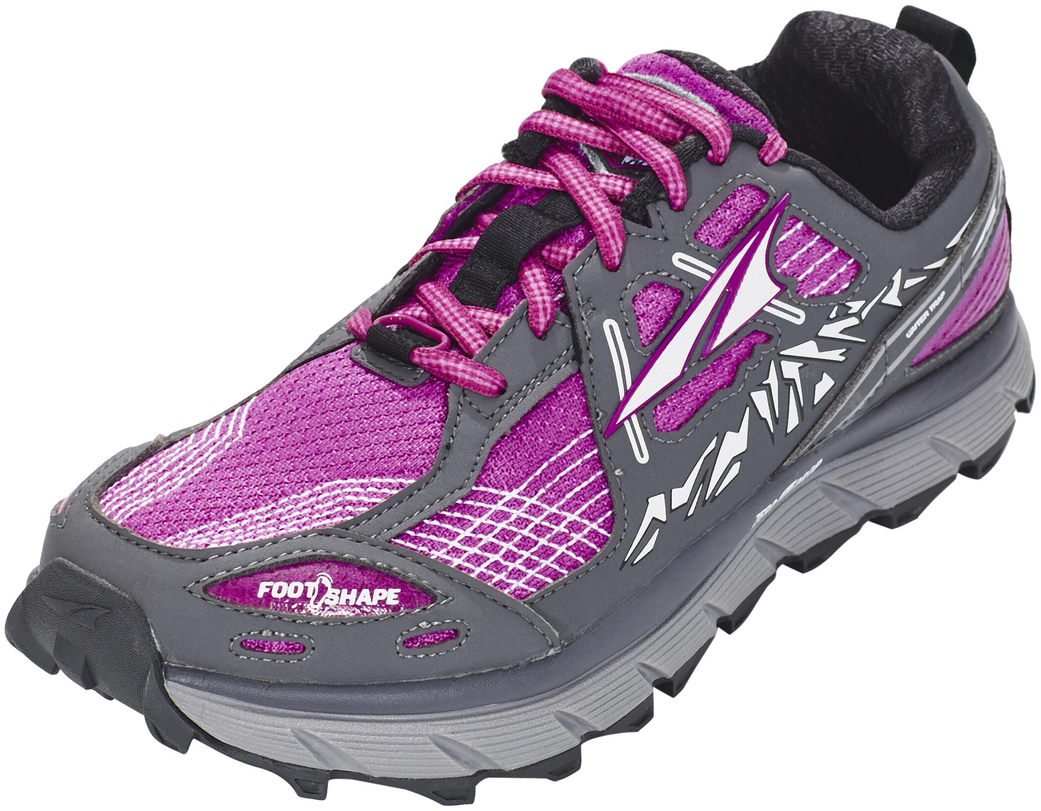 Altra Lone Peak 3.5 Trail Running Schuhe Damen pink and gray