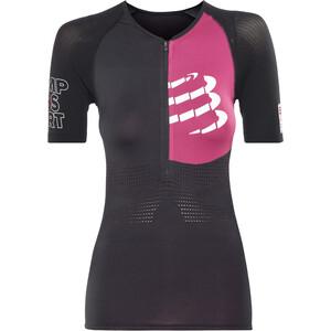 Compressport Triathlon Postural Aero Kurzarm Oberteil Damen schwarz schwarz