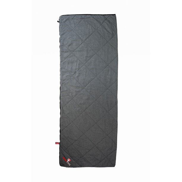 Grüezi-Bag WellhealthBlanket Wool Deluxe Sleeping Bag grey melange / berry