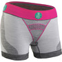 FOR.BICY Downtown Boxershorts mit Pad Damen light grey melange/raspberry