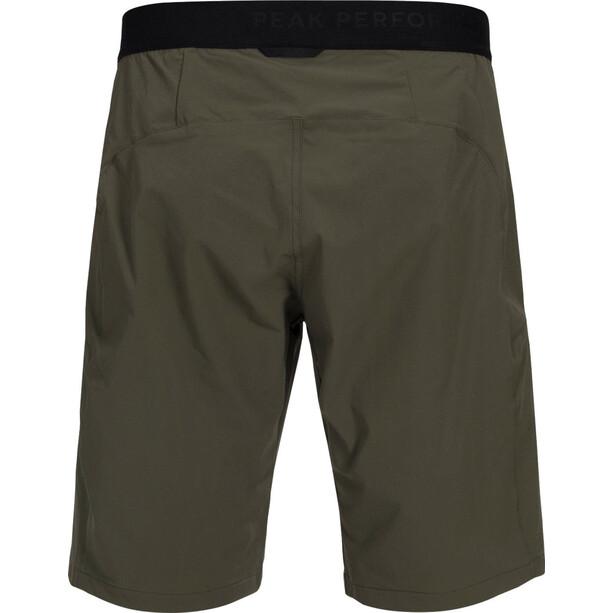 Peak Performance Ligth Softshell Shorts Herr terrain green