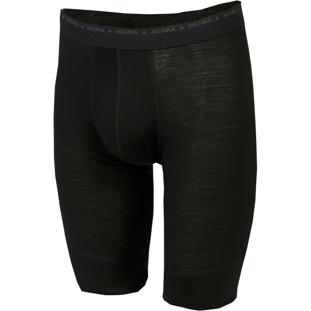 Aclima LightWool Shorts long Herren jet black
