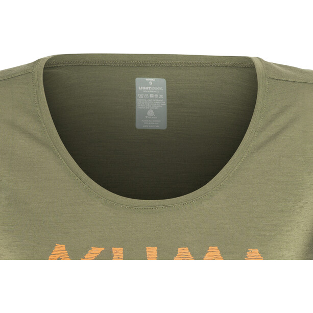 Aclima LightWool LOGO T-Shirt Damen ranger green
