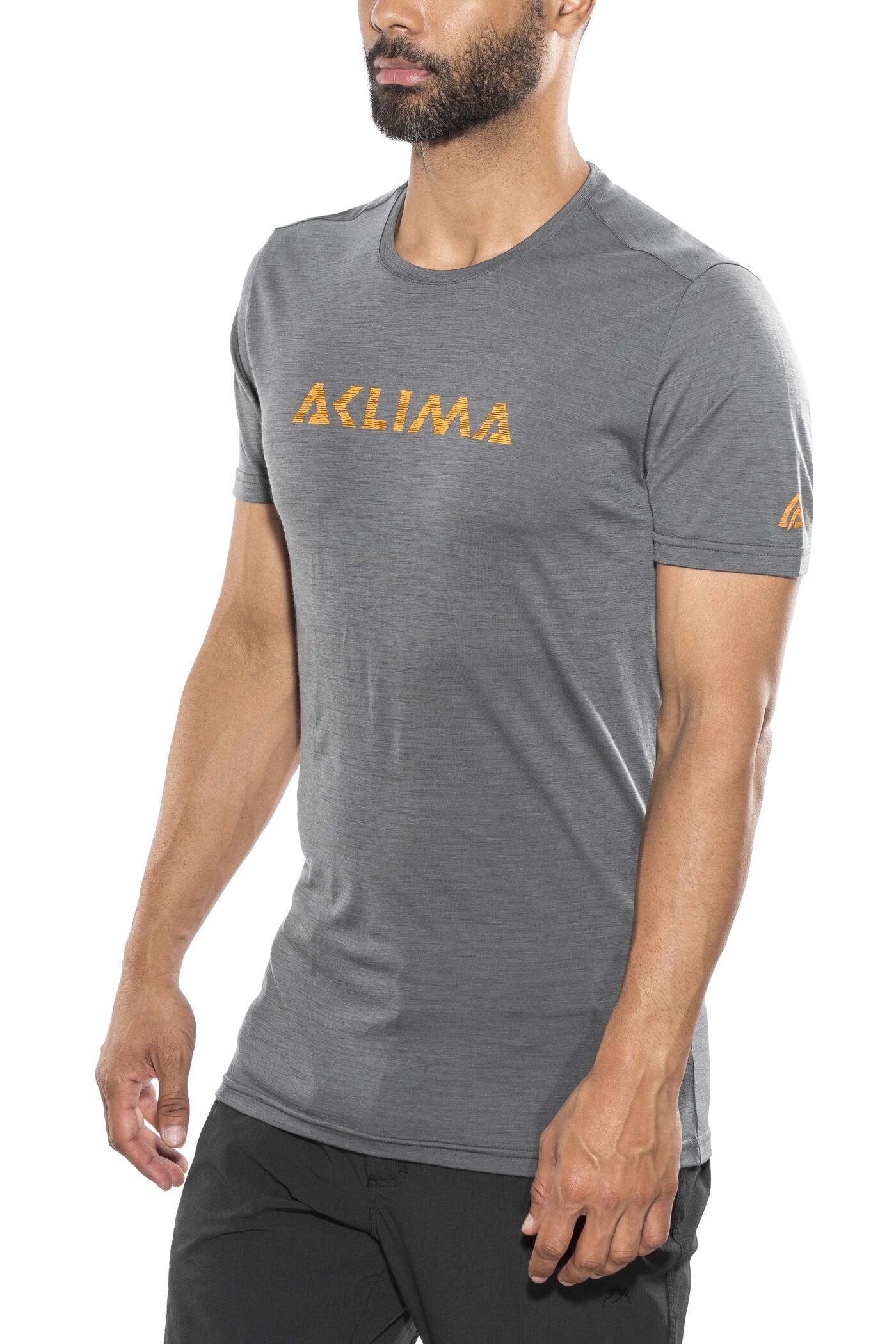 pretty nice cfa8d 41534 Aclima Lightwool Logo T-Shirt Men iron gate .jpg