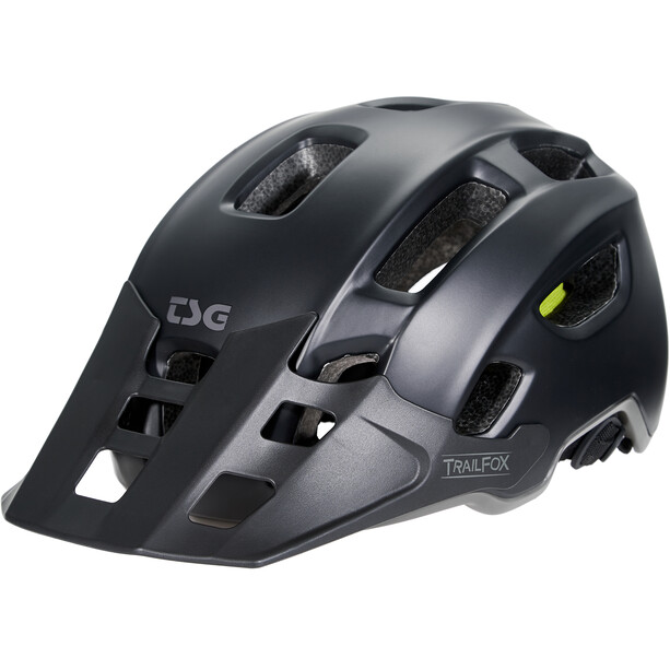TSG Trailfox Solid Color Helm satin black