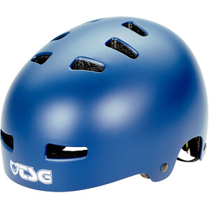 TSG Evolution Solid Color Helm satin blue satin blue