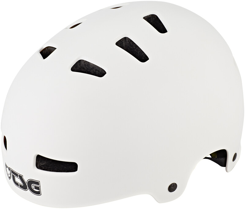 TSG Evolution Solid Color Hjelm satin white L/XL   57-59cm 2020 By- og trekkinghjelmer