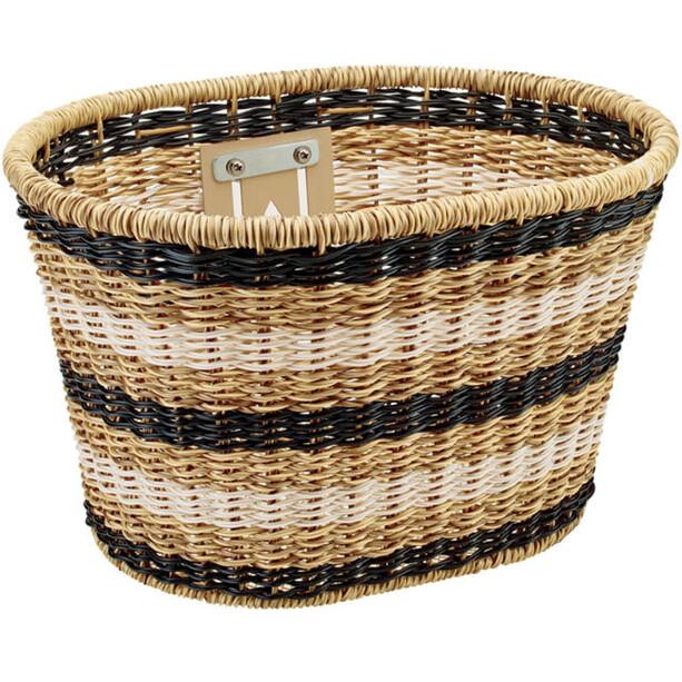 Electra Woven Plastic Light Basket brown/black/white