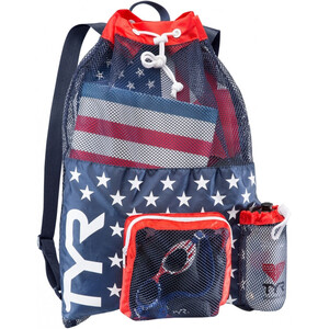 TYR Big Mesh Mummy Backpack red/navy red/navy