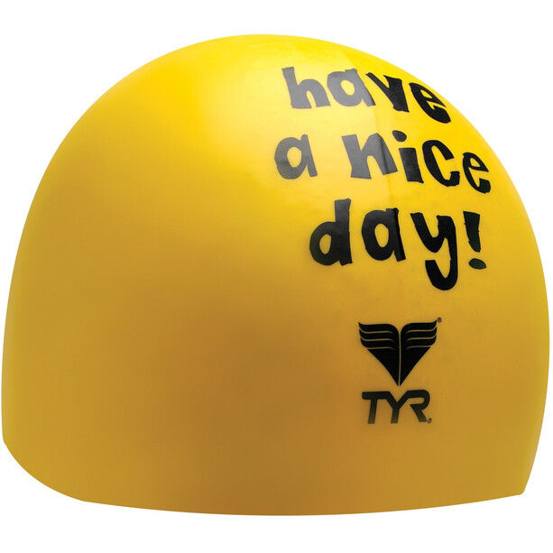 TYR Have A Nice Day Schwimmkappe yellow