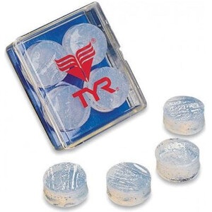 TYR Soft Silicone Earplugs clear clear