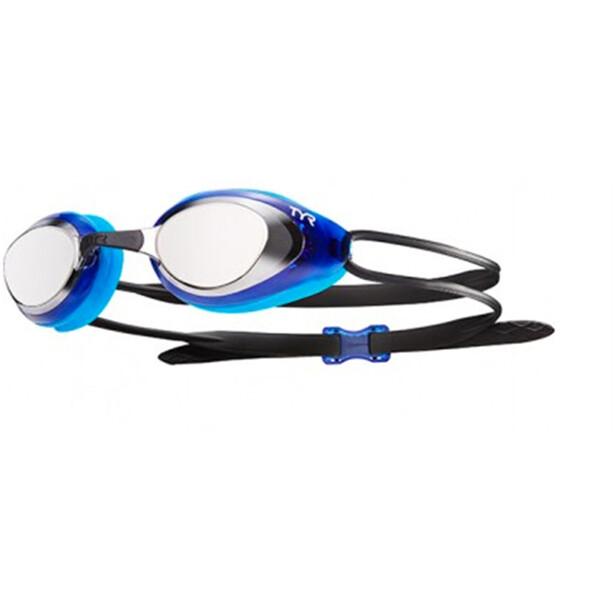 TYR Black Hawk Racing Mirrored Goggles Herren silver/blue/black
