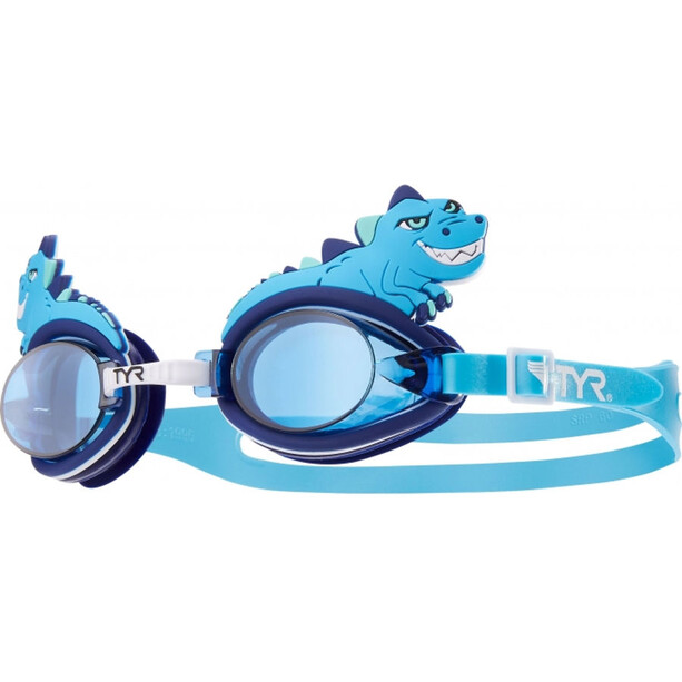 TYR Charactyrs Dino Destroyer Goggles Kinder blue
