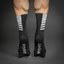 GripGrab Racing Stripes Socks black/white