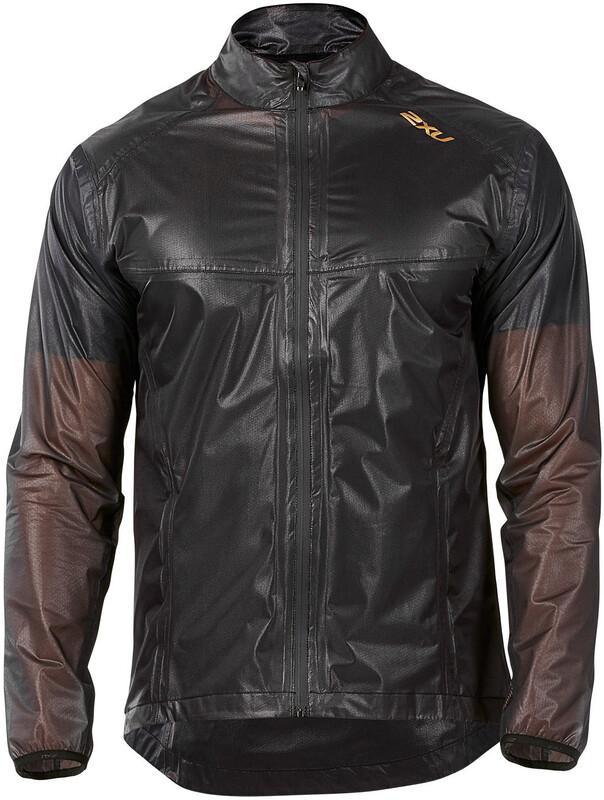 2XU M's GHST Membrane Jacket Black/Gold S 2018 Løpejakker