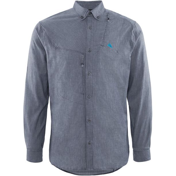 Klättermusen Lofn Shirt Herr storm blue melange