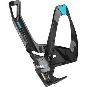 Elite Cannibal XC Bottle Holder glossy black/light blue design glossy black/light blue design