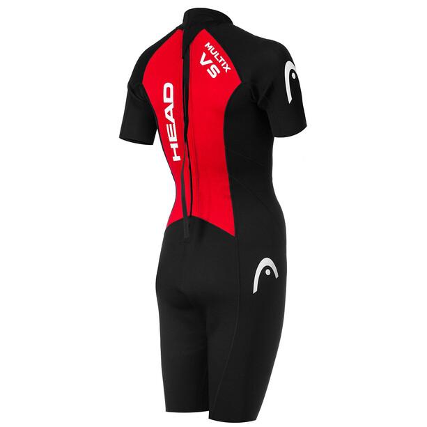 Head Multix VS Multisport 2,5 Shorty Anzug Damen black/red