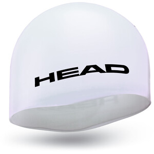 Head Silicone Moulded Badekappe weiß weiß