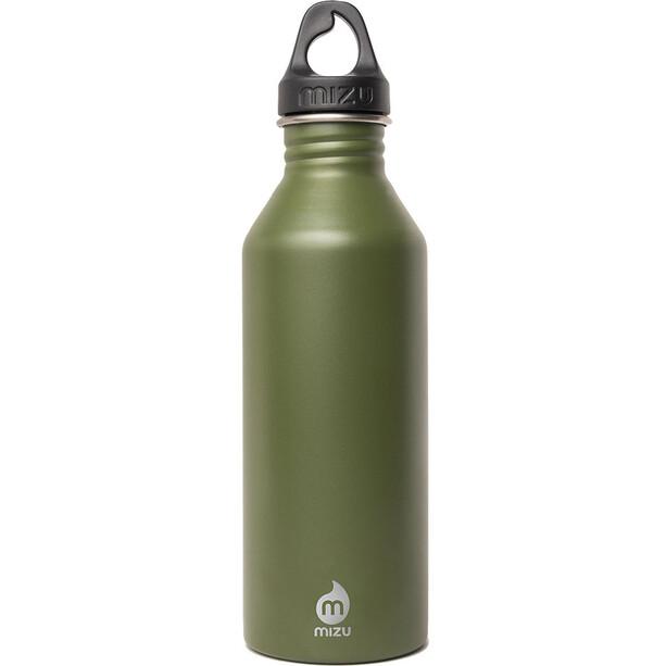 MIZU M8 Flasche with Black Loop Cap 800ml enduro army
