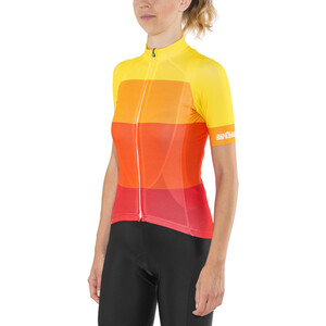 Red Cycling Products Colorblock Race Pyöräilypaita Naiset, red-yellow red-yellow