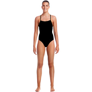 Funkita Strapped In Badeanzug Damen still black solid still black solid