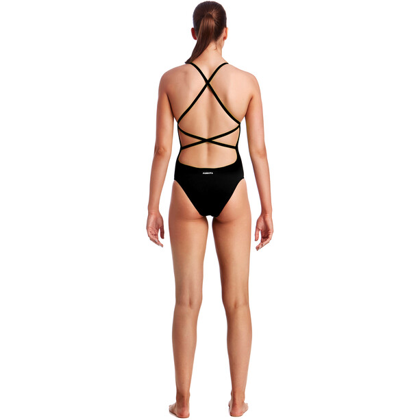 Funkita Strapped In One Piece Swimsuit Women still black solid