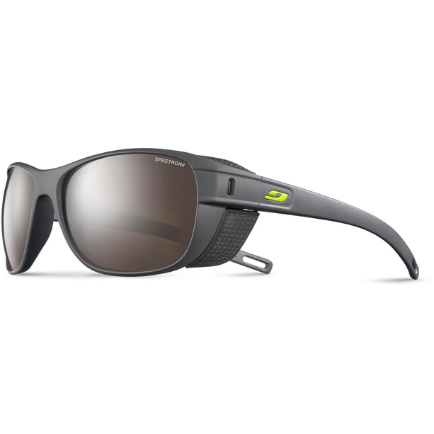 Julbo Camino Spectron 4 Sonnenbrille dark gray/gray-brown flash silver