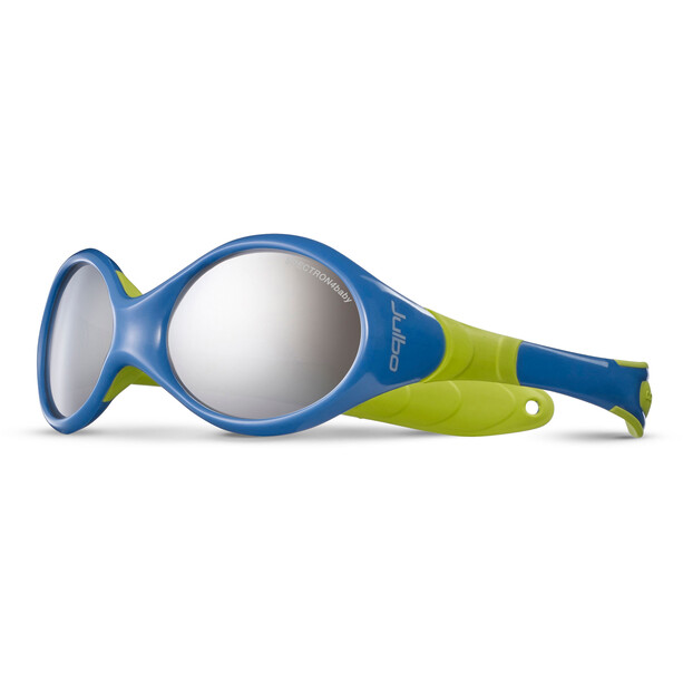 Julbo Looping II Spectron 4 Sonnenbrille 12-24M Kinder blue/lime green-gray flash silver