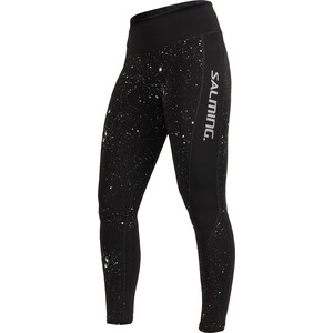 Salming Reflective Tights Damen black/silver reflective black/silver reflective