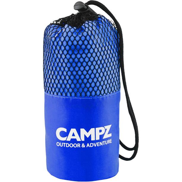 CAMPZ Mikrofaser Handtuch 40x80cm blau