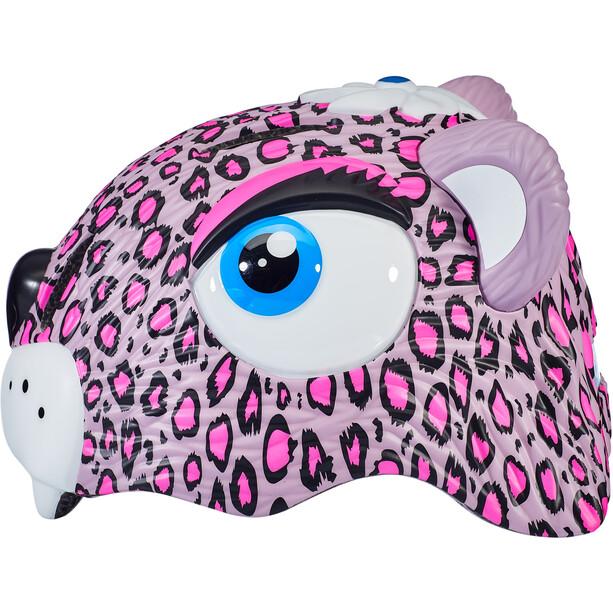 Crazy Safety Leopard Kypärä Tytöt, vaaleanpunainen/valkoinen