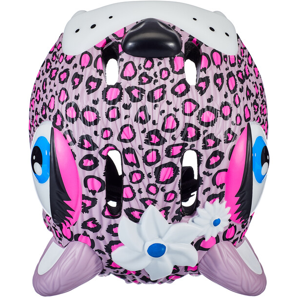 Crazy Safety Leopard Helmet Jenter pink