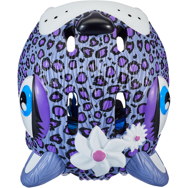 Crazy Safety Leopard Helm Mädchen lila