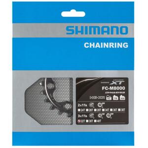 Shimano Deore XT FC-M8000 Kettenblatt für 40-32-22 Zähne 11-fach BB schwarz schwarz