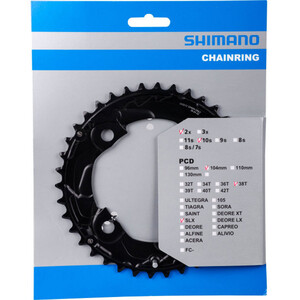 Shimano SLX FC-M677 Klinge 10-fag, sort sort