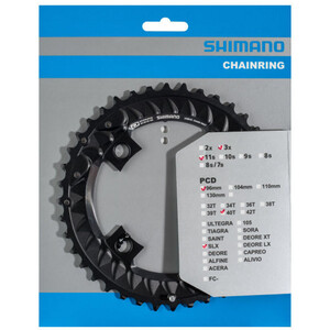 Shimano SLX FC-M7000-10 Kettenblatt 10-fach schwarz schwarz