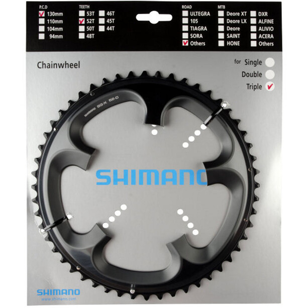 Shimano Tandem FC-R603 Chainring 10-speed right grey