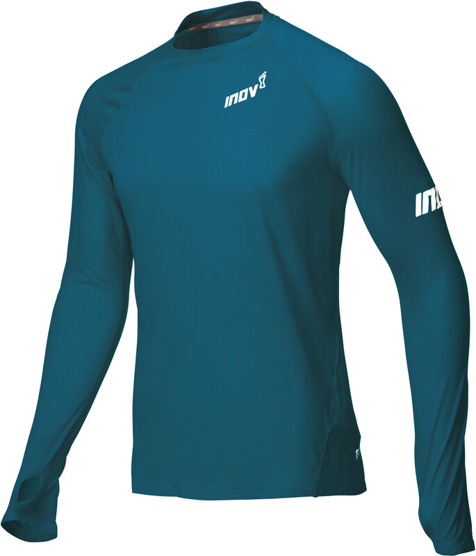 inov-8 Base Elite LS Baselayer Men blue/green S 2018 Laufunterhemden