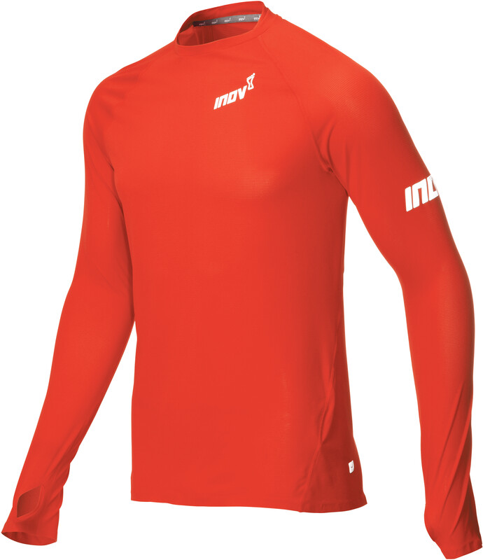 inov-8 Base Elite LS Baselayer Men red S 2018 Laufunterhemden