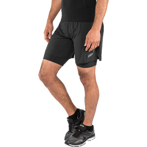 "inov-8 Trail 7"" Shorts Herren black/red black/red"