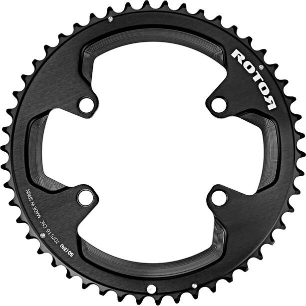 Rotor Aldhu Kettenblatt 110x4 außen rund schwarz/matt/glänzend
