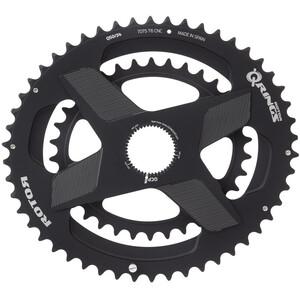 Rotor Aldhu Direct-Mount Dubbelt kedjedrev oval svart svart